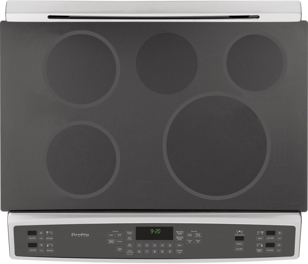 interior ge profile phs920sfss cooktop view