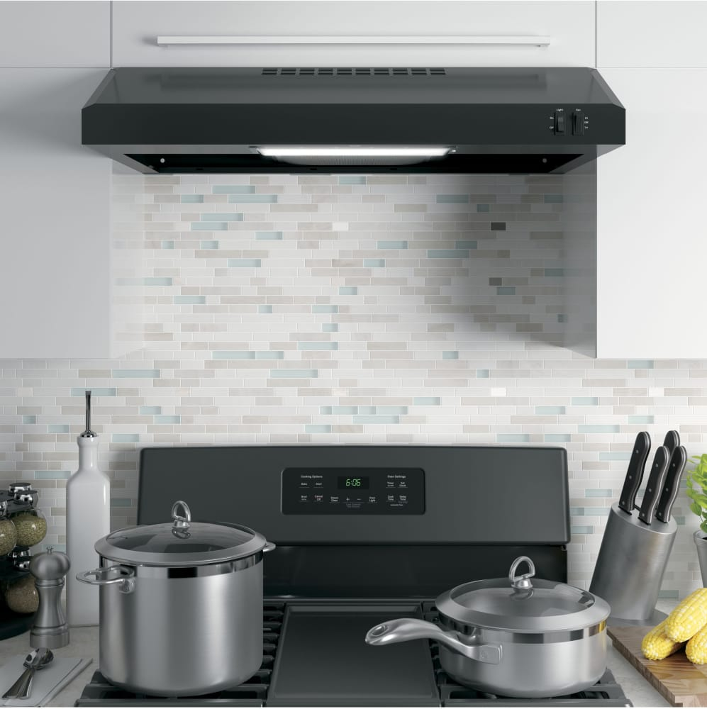 Uncategorized Under Cabinet Appliances Kitchen ge jvx3300 30 inch under cabinet range hood with 2 speeds 200 cfm in stainless steel from lifestyle view