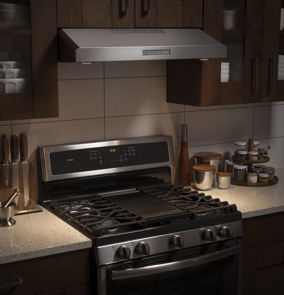 Ge Pvx7300sjss 30 Inch Under Cabinet Range Hood With 4