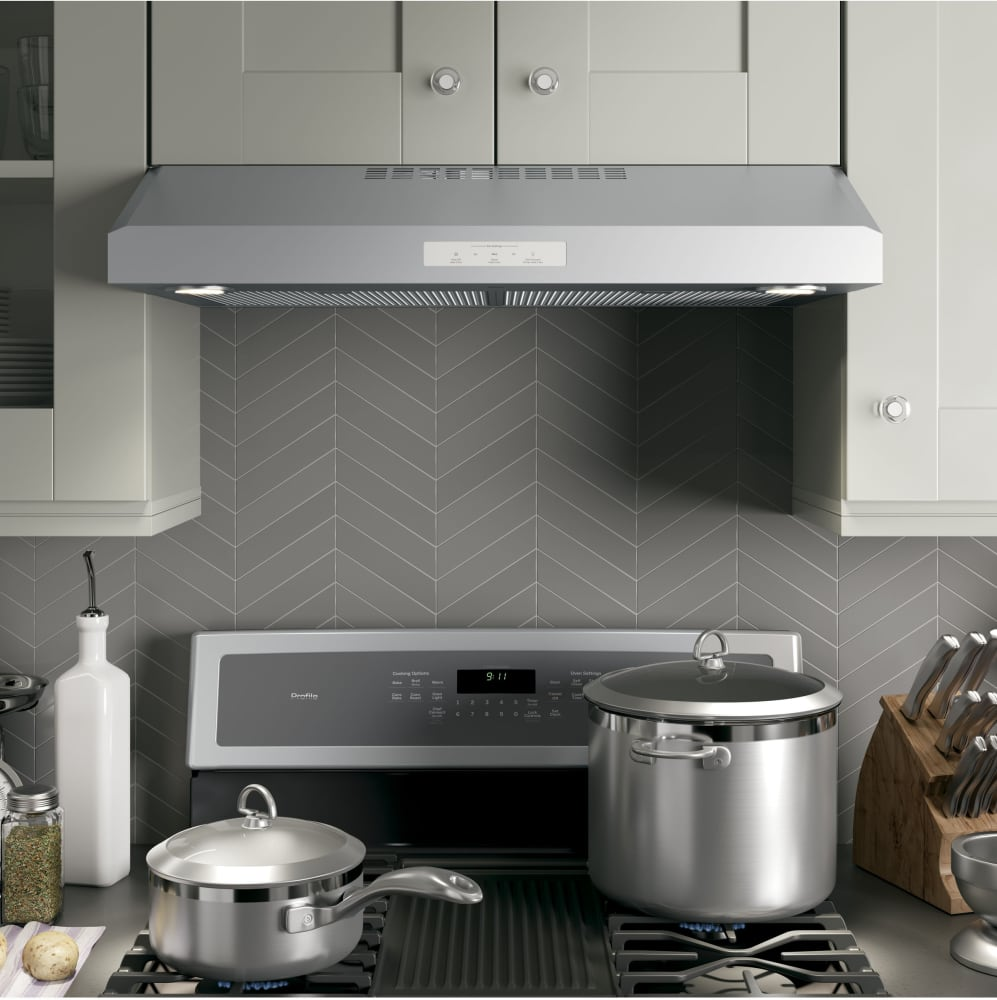 Hood Under Cabinet Range ~ Ge pvx sjss inch under cabinet range hood with
