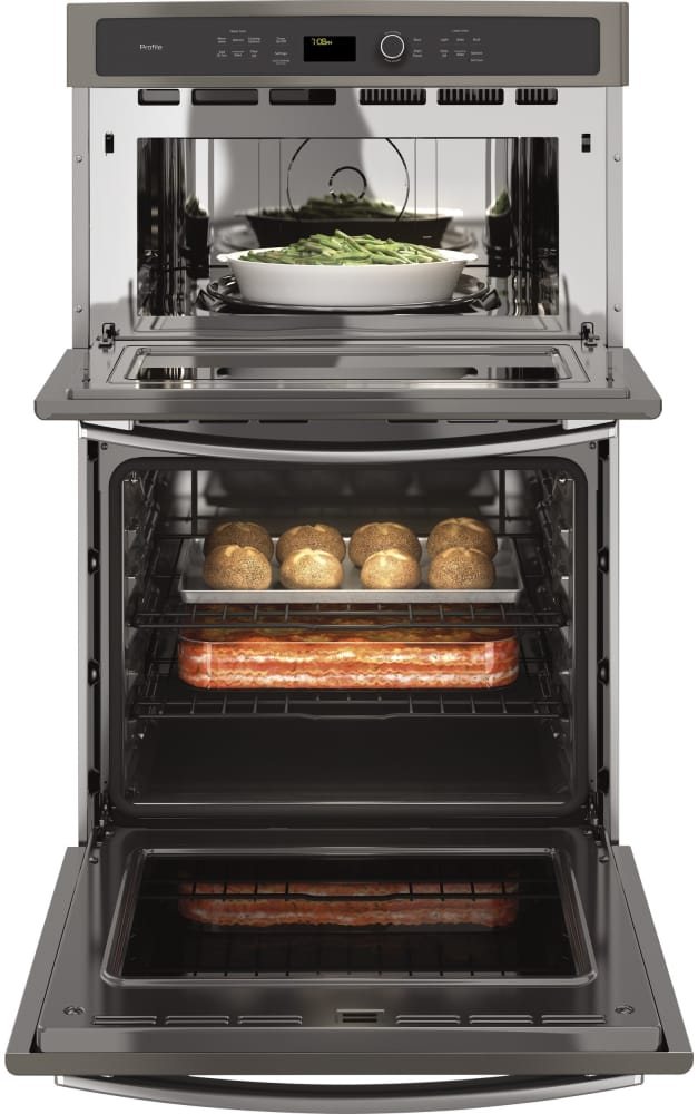 Ge Pk7800ekes 27 Inch Combination Electric Wall Oven With