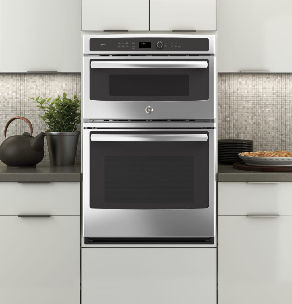 Ge Pk7800skss 27 Inch Combination Electric Wall Oven With