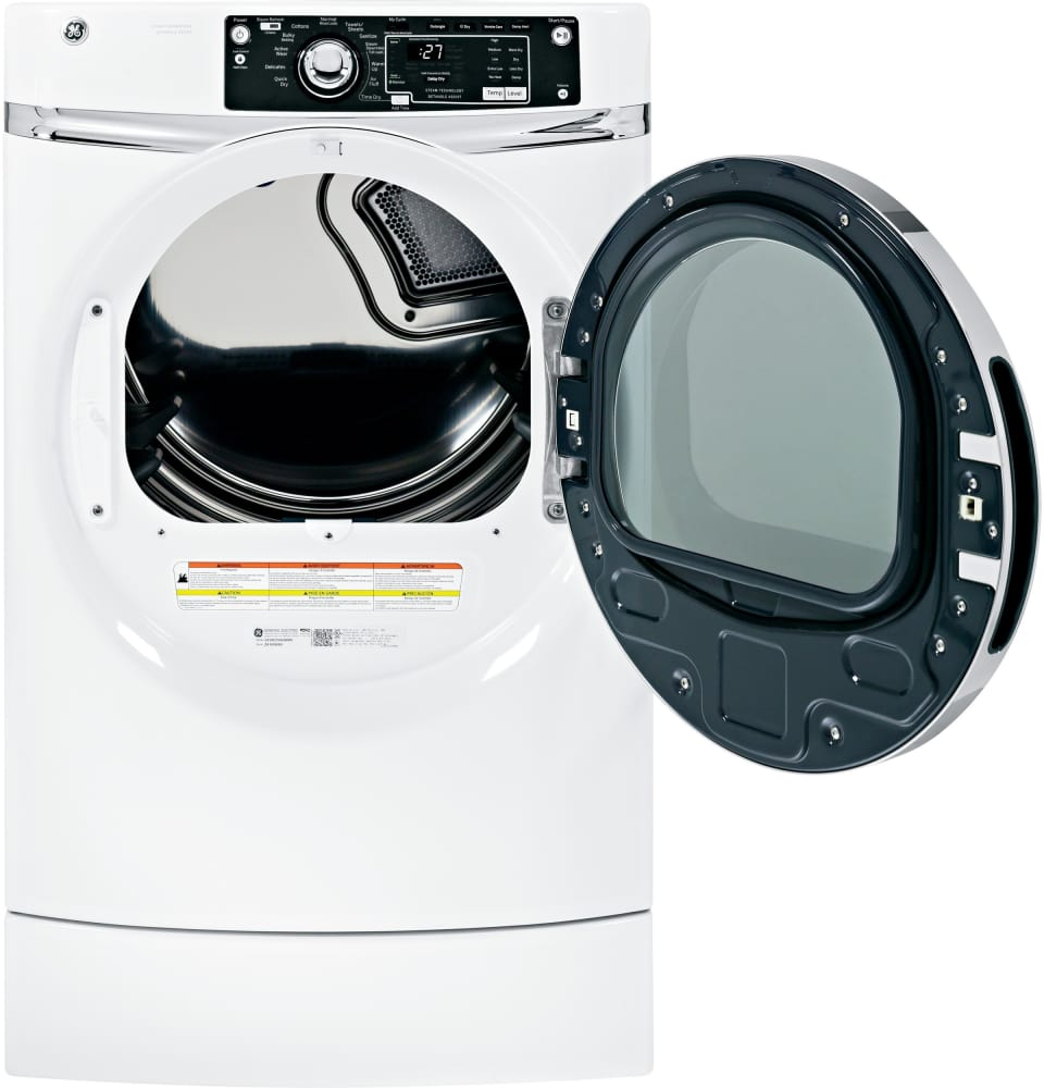 Ge Gfdr270ghww 28 Inch 8 1 Cu Ft Gas Dryer With 12 Dry