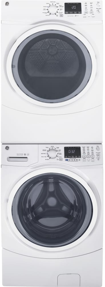 ge gfw450sskww the washer can have the dryer stacked on top of it for space