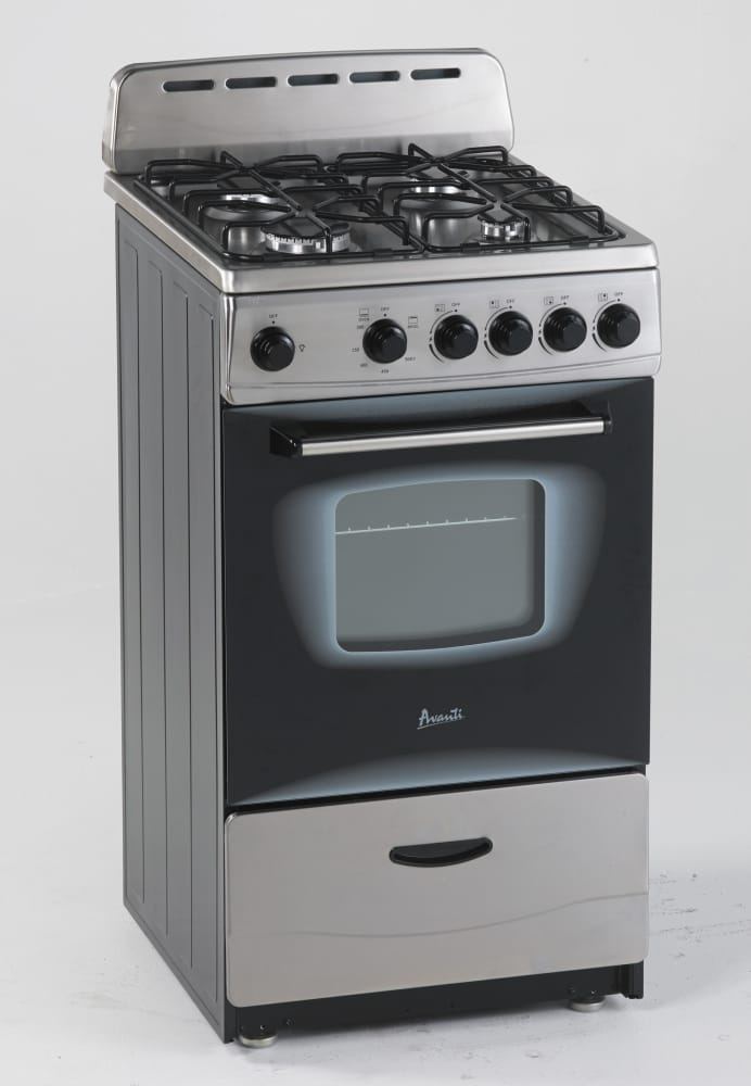 Avanti Gr2013css 20 Inch Freestanding Gas Range With 2 1 Cu Ft