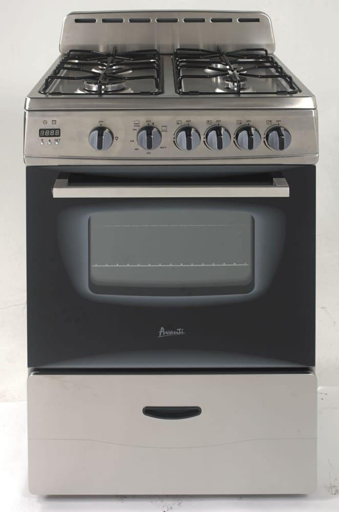 Avanti Gr24x 24 Inch Freestanding Gas Range With 4 Sealed