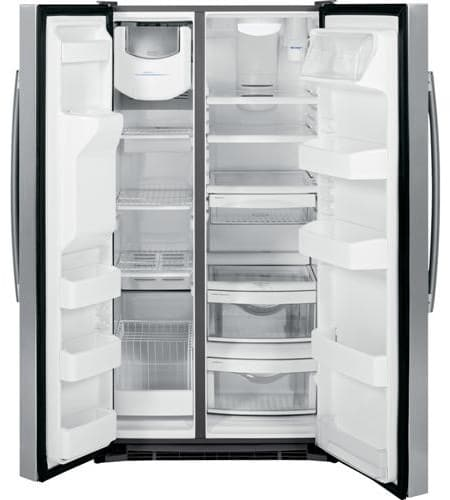 Ge Gse25gghcc 36 Inch Side By Side Refrigerator With 25 4