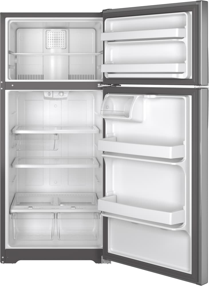 Ge Gte16gshss 28 Inch Top Freezer Refrigerator With Snack