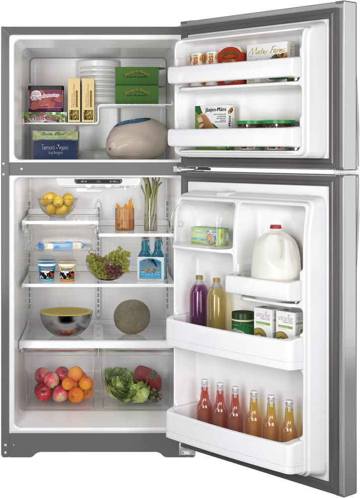 Ge Gte18ishss 30 Inch Top Freezer Refrigerator With Snack