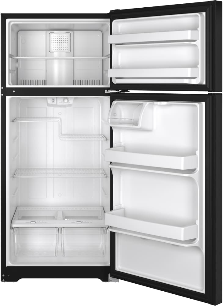 Ge Gts16dthbb 28 Inch Top Freezer Refrigerator With