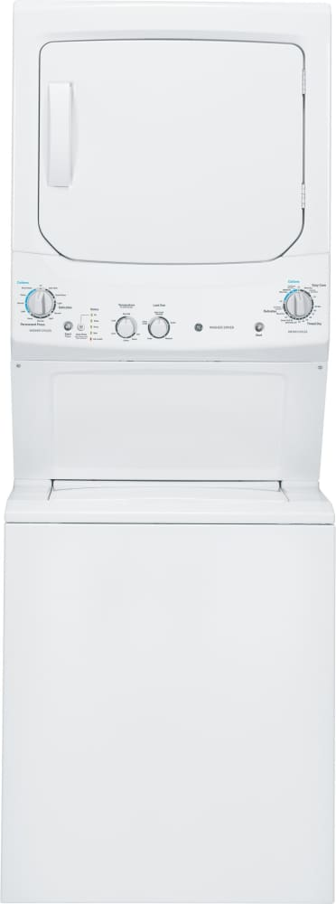 Ge Gud27gssjww 27 Inch Gas Laundry Center With 3 2 Cu Ft