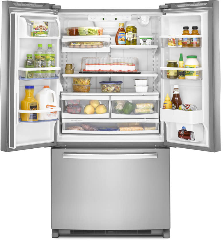 Whirlpool Gx5fhtxvy 24 8 Cu Ft French Door Refrigerator