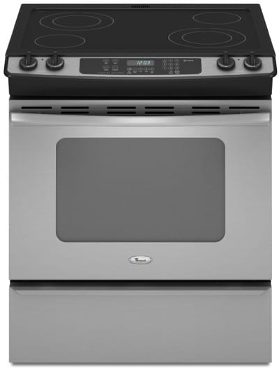 Whirlpool GY397LXUS 30 Inch Slide-in Electric Range with