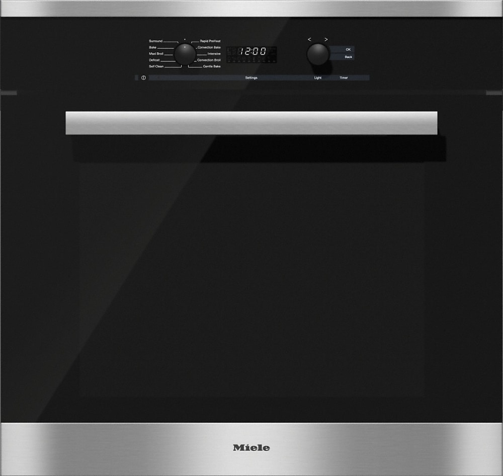 miele h6281bp 30 inch single electric wall oven with twinpower convection blowers 8 operating. Black Bedroom Furniture Sets. Home Design Ideas