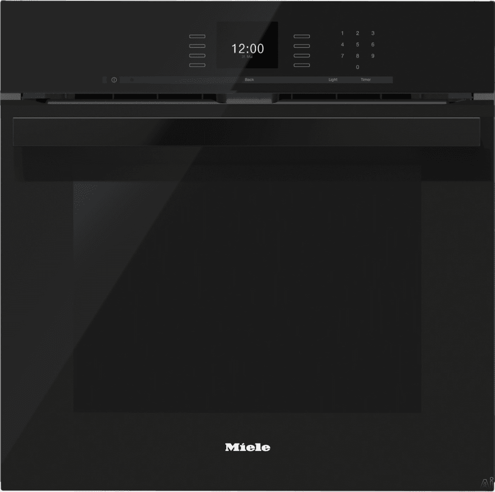 miele h6660bpobsw 24 inch single electric wall oven with convection cooking self cleaning mode. Black Bedroom Furniture Sets. Home Design Ideas