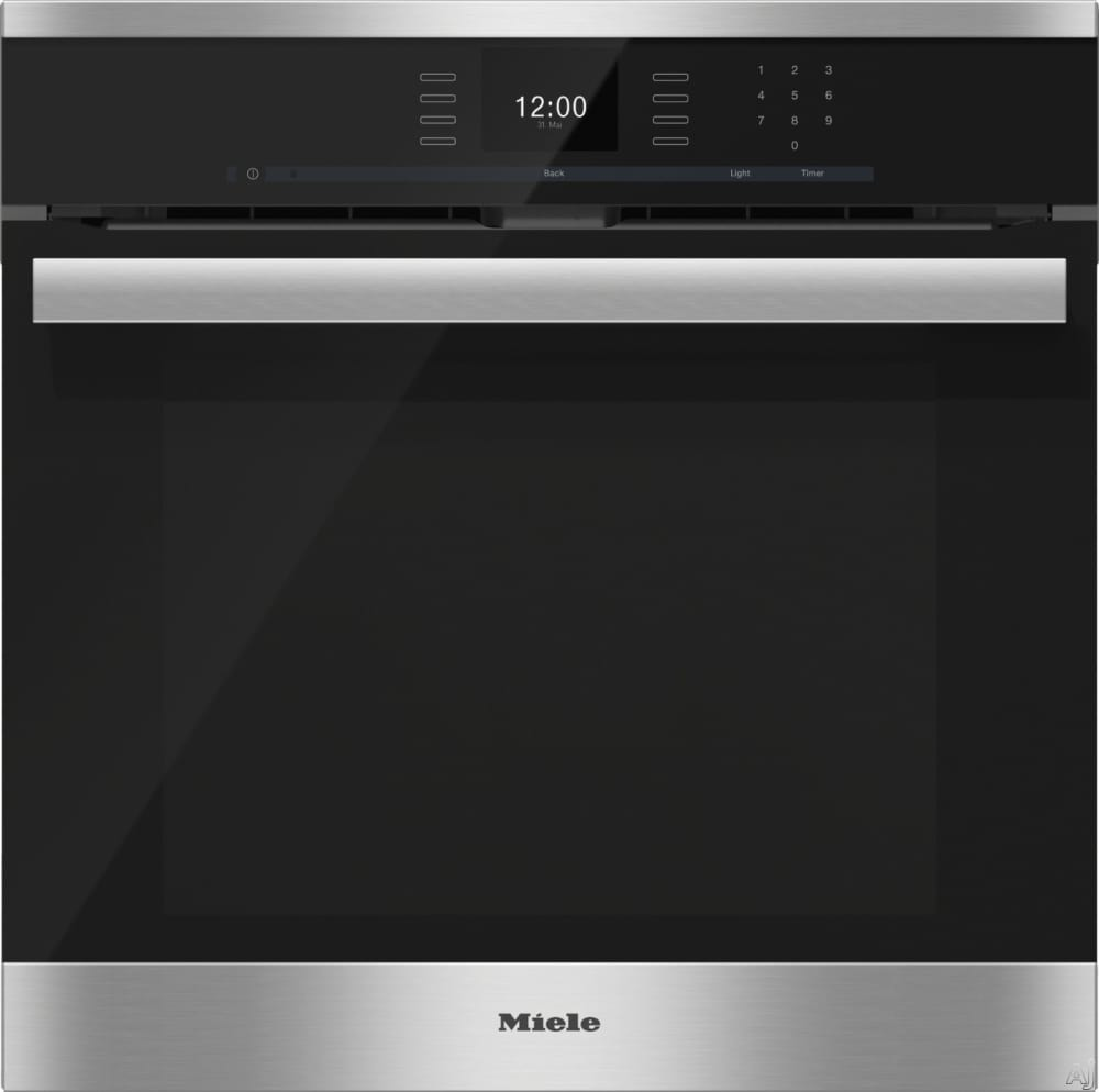 miele h6660bp 24 inch single electric wall oven with convection cooking self cleaning mode. Black Bedroom Furniture Sets. Home Design Ideas