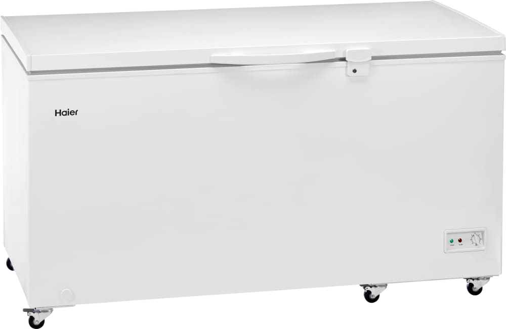 Haier HFC1104ACW 45 Inch Chest Freezer with 10.7 Cu. Ft. Capacity, on