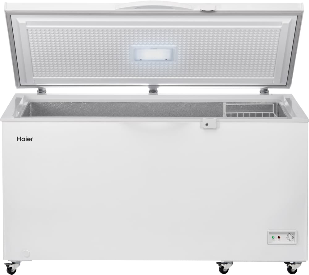 Haier HFC1504ACW 60 1/2 Inch Chest Freezer with 14.5 Cu. Ft ...