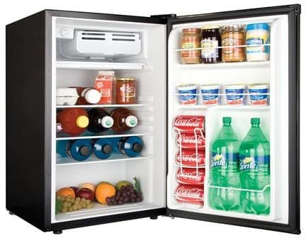Haier Hc46sf10sv Compact Refrigerator In Virtual Steel