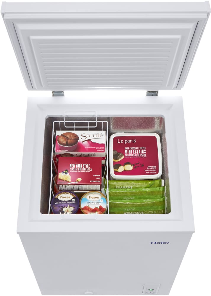 Haier Hfc3501acw 22 1 2 Inch Chest Freezer With 3 5 Cu Ft