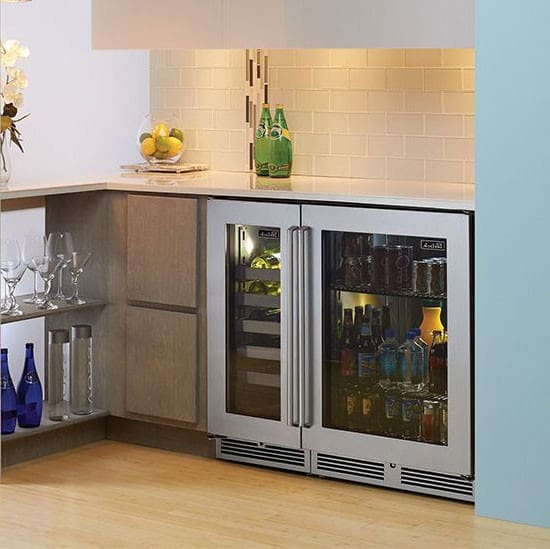 perlick signature series hp24rs33r 24 glass stainless steel refrigerator next to perlicks wine reserve - Commercial Undercounter Refrigerator