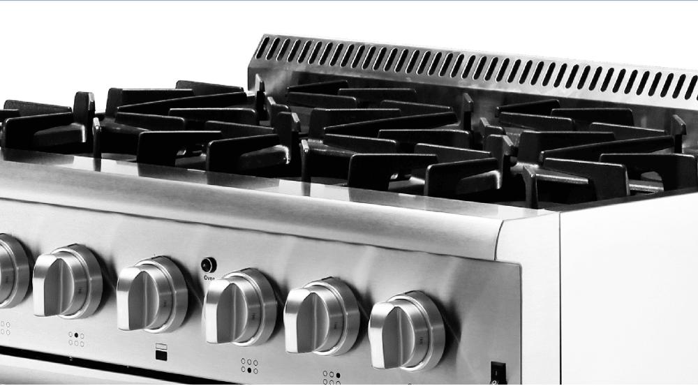 Thor Kitchen Hrd3606u 36 Inch Freestanding Dual Fuel Range