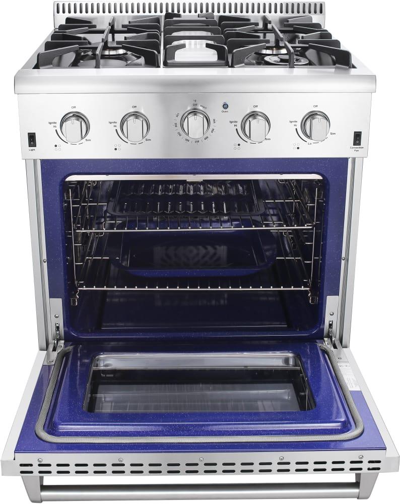 Thor kitchen hrg3026u 30 inch freestanding gas range with for Ajmadison
