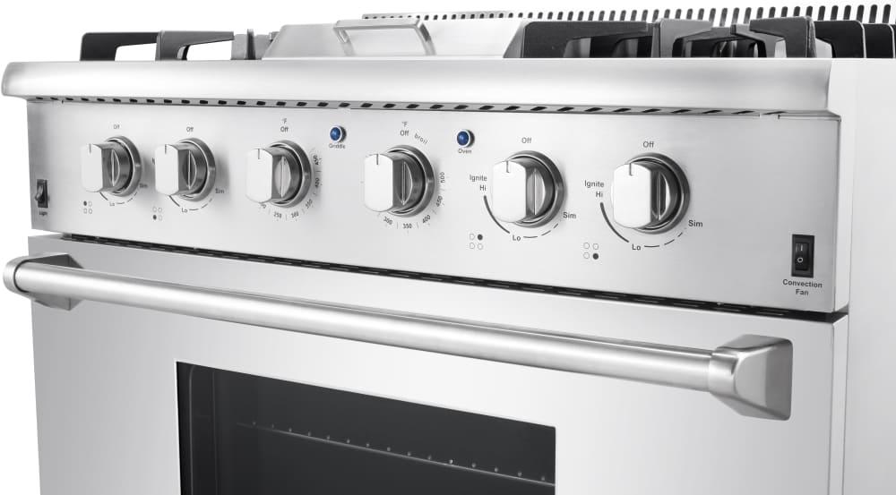 thor kitchen hrg3617u controls view - Thor Kitchen