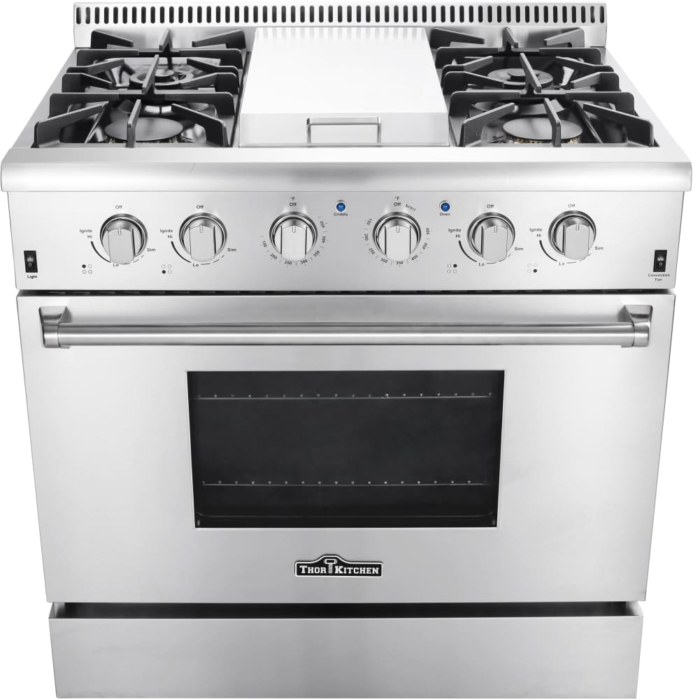 Thor Kitchen HRG3617U 36 Inch Freestanding Gas Range with Convection ...