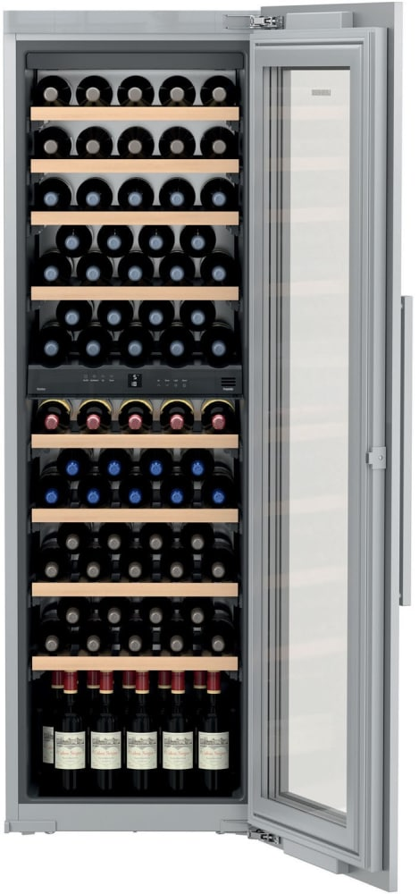 Liebherr Hw8000 24 Inch Built In Dual Zone Wine Cabinet With 80 Bottle Capacity Presentation
