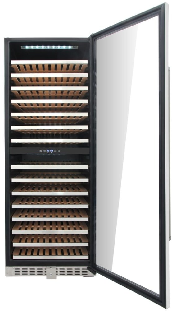 Thor Kitchen Hwc2403u 24 Inch Wine Cooler With 156 Bottle Capacity Dual Zones Tempered And