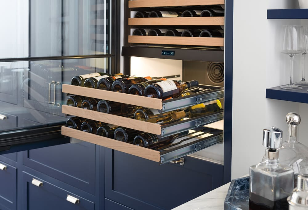 Sub Zero Iw30rrh 30 Inch Panel Ready Wine Storage With 86