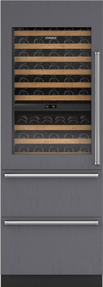 Sub Zero Iw30rlh 30 Integrated Wine Storage With Refrigerator Drawers Custom Panel
