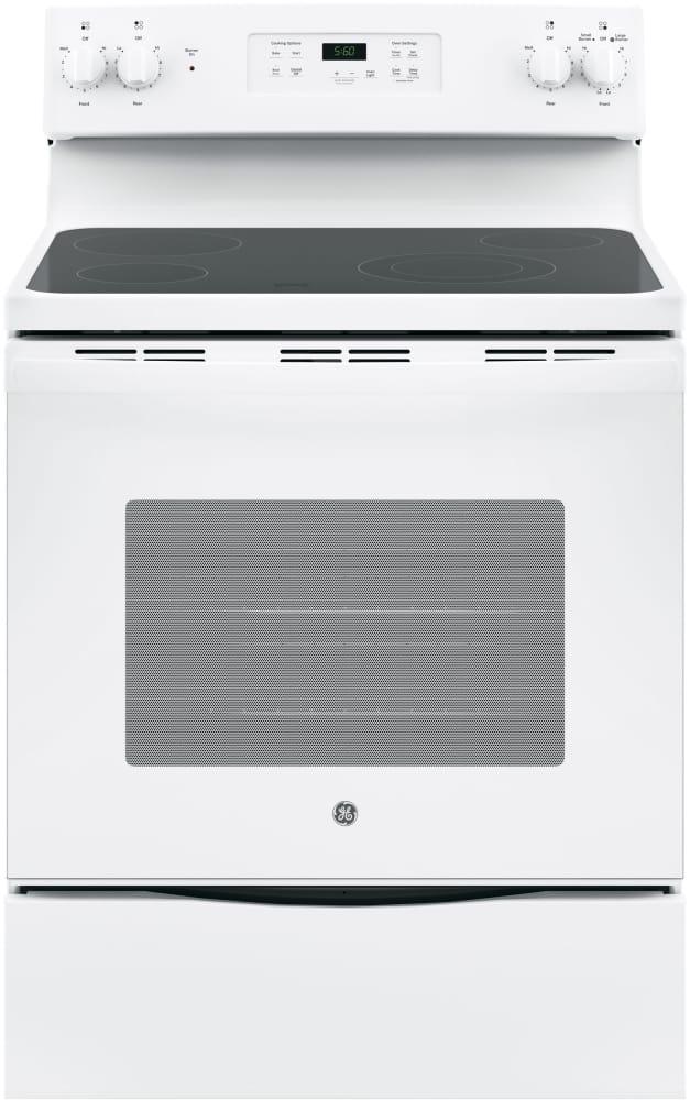 white electric range. GE JBS60DKWW - 30\ White Electric Range W