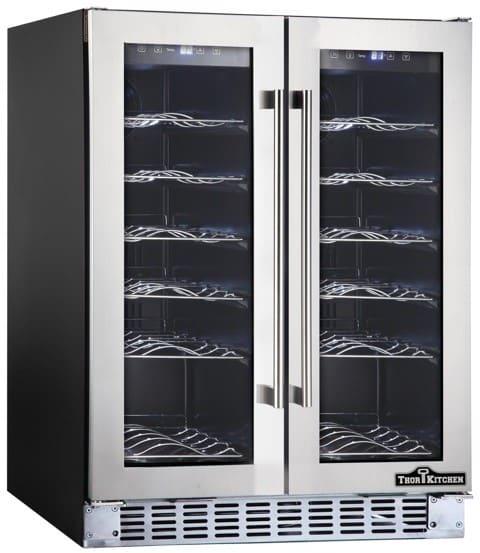 Thor Kitchen Hwc2402u 24 Inch Wine Cooler With 36 Bottle Capacity Dual Zones White Led