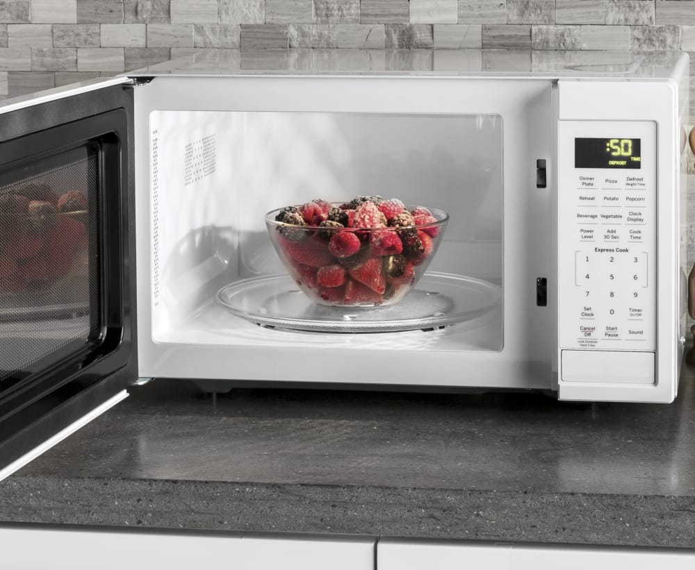 Ge Jes1095dmww 0 9 Cu Ft Countertop Microwave Oven With