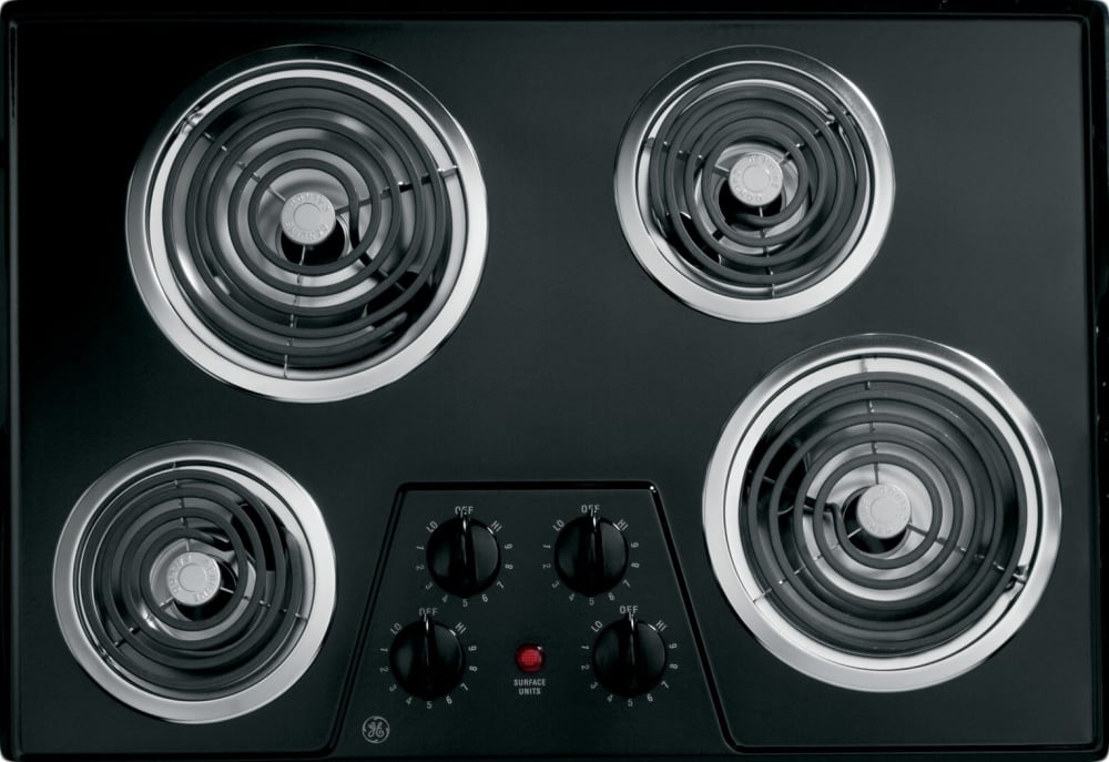 Ge Jp328bkbb 30 Inch Electric Cooktop With 4 Coil Elements