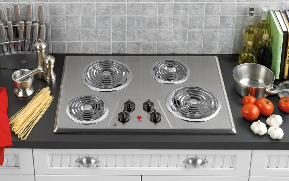 Ge Jp328skss 30 Inch Electric Cooktop With 4 Coil Elements