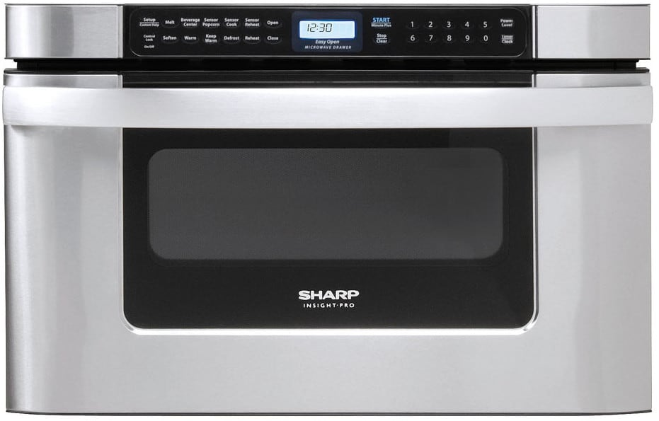Sharp kb6524ps 24 inch built in microwave drawer with for 24 inch built in microwave oven