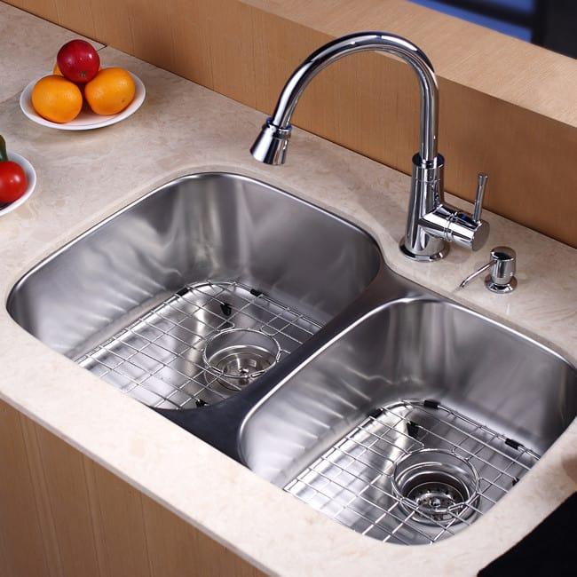 ... Kraus Kitchen Combo Series KBU24KPF2220KSD30ORB   Kitchen Sink And Faucet  Combo ...
