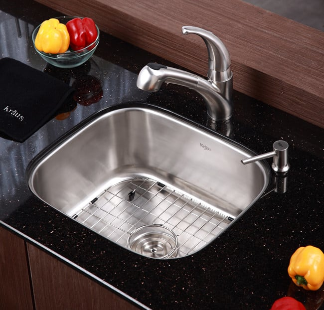 ... Kraus Kitchen Sink Series KBU11   Lifestyle View ...