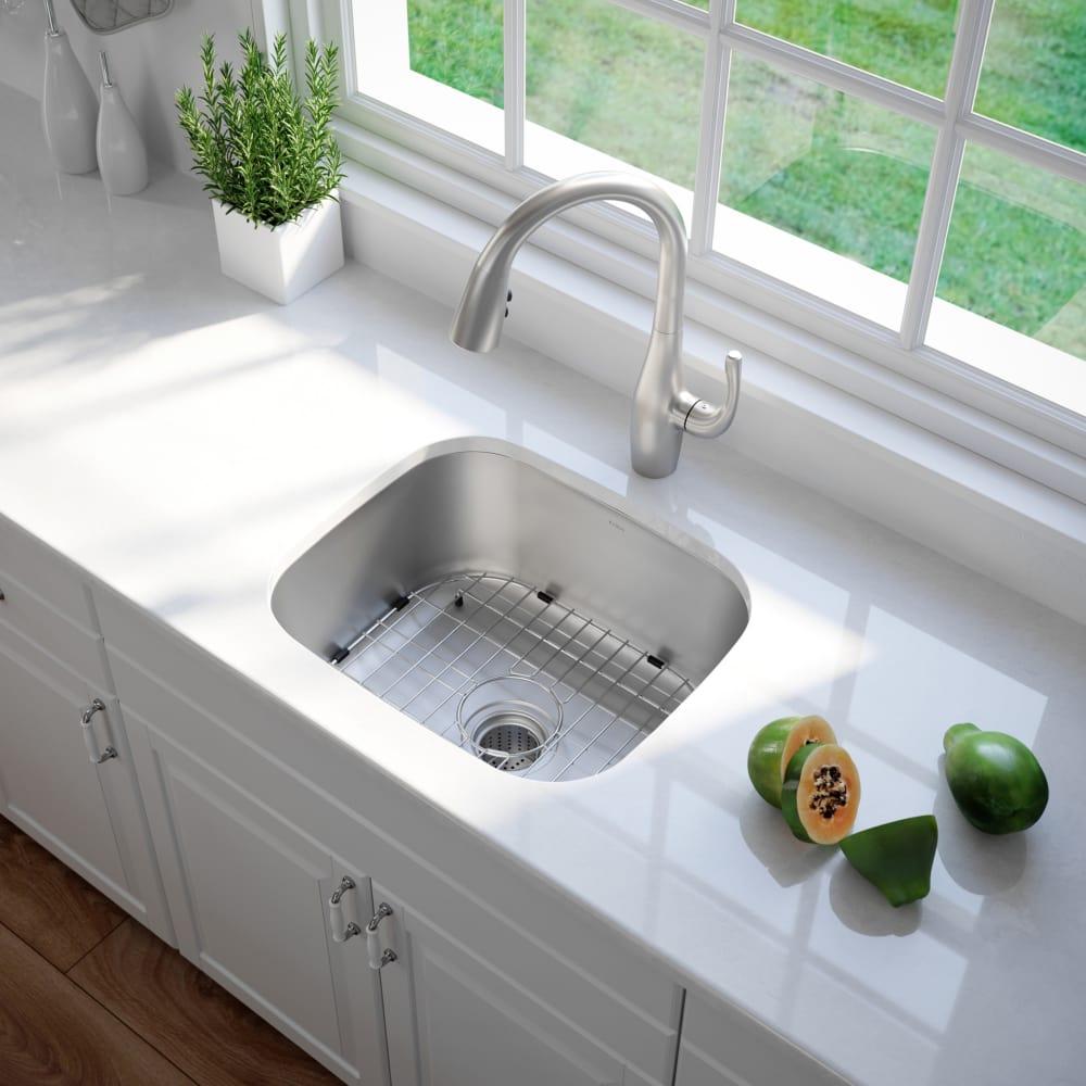 Kraus Kbu11 20 Inch Undermount Single Bowl Kitchen Sink