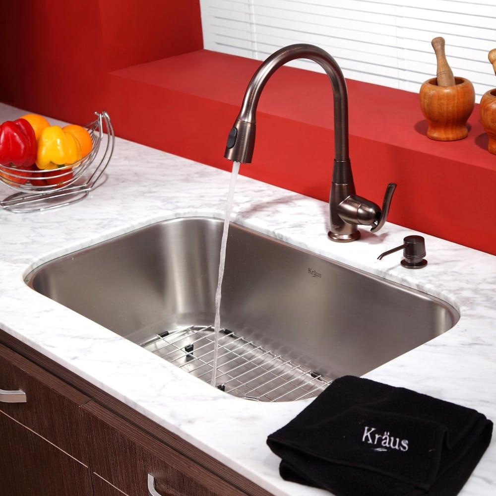 ... Kraus Kitchen Combo Series KBU14KPF2230KSD30ORB   Lifestyle View ...