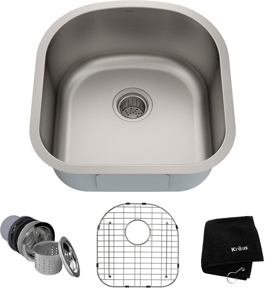 Kraus Kbu15 20 Inch Undermount Single Bowl Kitchen Sink