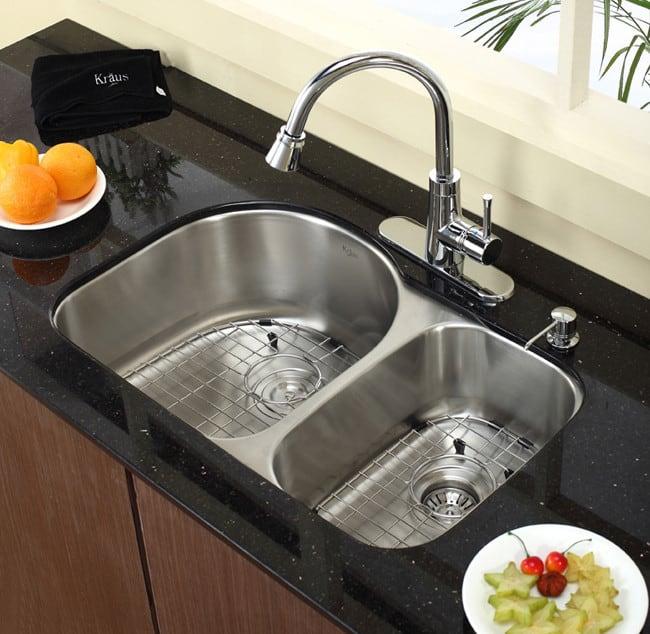 Kraus Kbu21 30 Inch Undermount 60 40 Double Bowl Kitchen