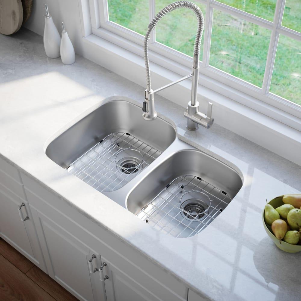 Kraus KBU27 35 Inch Undermount 60/40 Double Bowl Kitchen ...