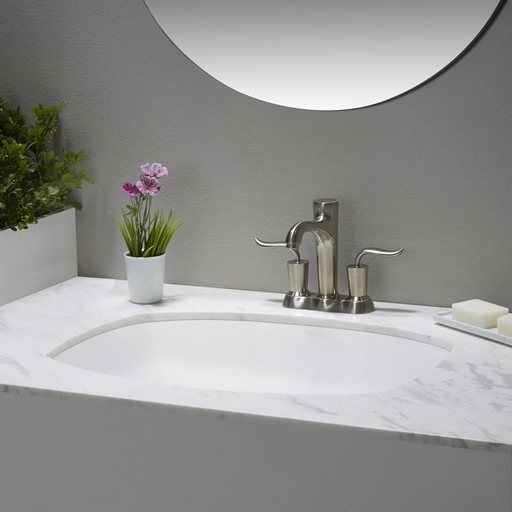Kraus kcu261 24 inch undermount ceramic sink with scratch for Ajmadison