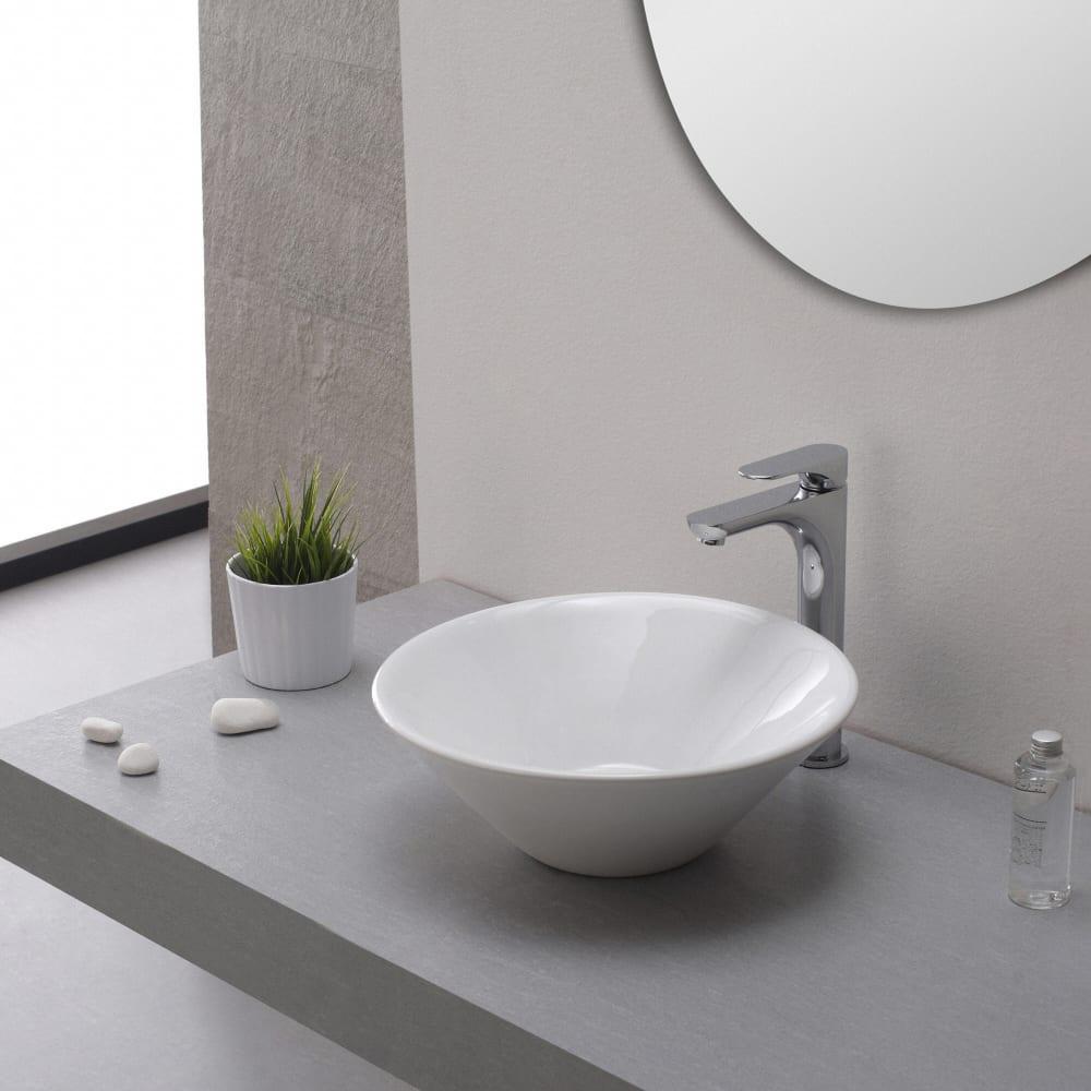 Kraus Kcv143 16 Inch Round Ceramic Vessel Bathroom Sink