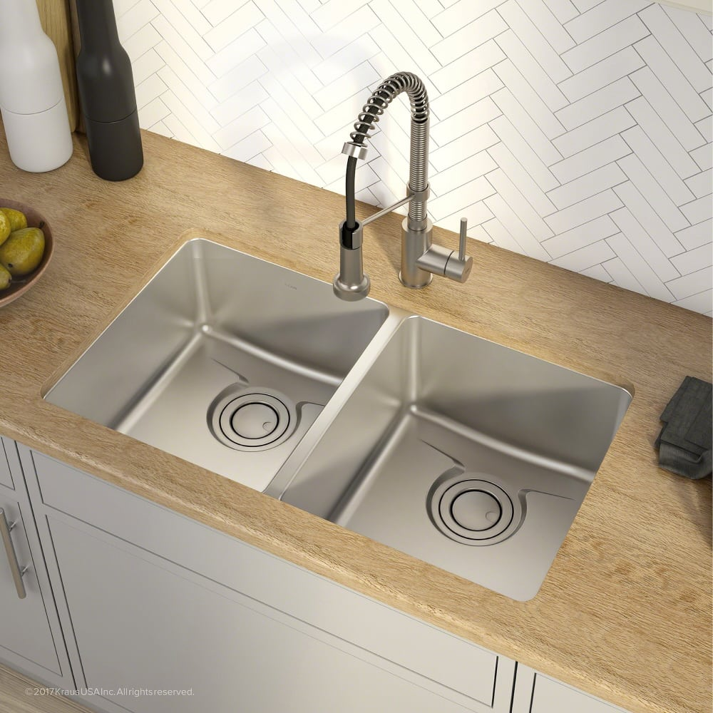 Kraus Stainless Steel Kitchen Faucets