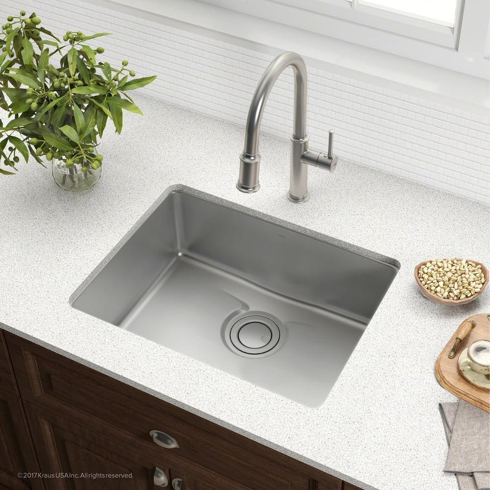 3 bowl kitchen sink kraus kd1us25b 25 inch undermount single bowl kitchen sink 3852